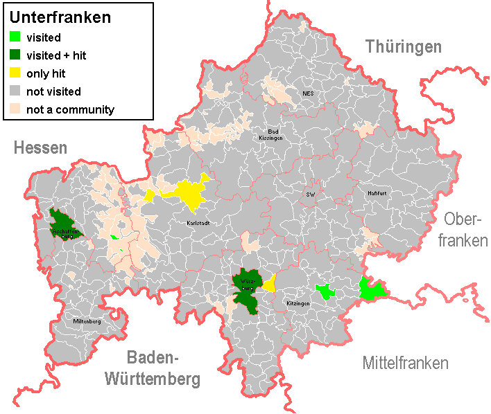 Karte Oberfranken Unterfranken Mittelfranken.Statistics For Muenzmuc